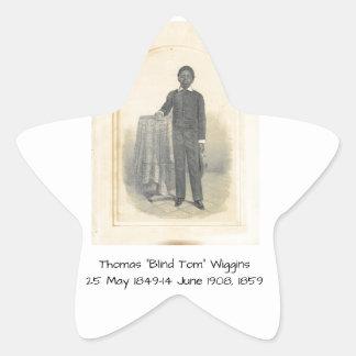 "Thomas ""Blind Tom"" Wiggins, 1859 Star Sticker"