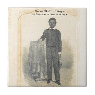 """Thomas """"Blind Tom"""" Wiggins, 1859 Tile"""
