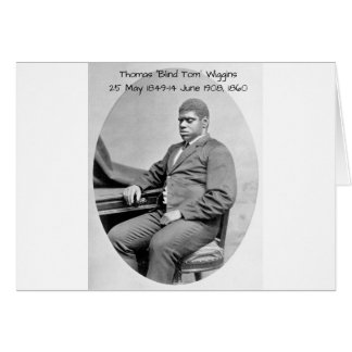 "Thomas ""Blind Tom"" Wiggins, 1860 Card"