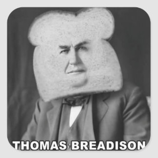 Thomas Breadison Square Sticker