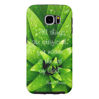 Thomas Browne quote nature background Samsung Galaxy S6 Cases