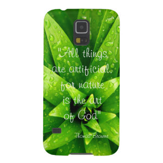 Thomas Browne quote nature background Galaxy S5 Cases