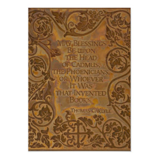 Thomas Carlyle quote on books Card