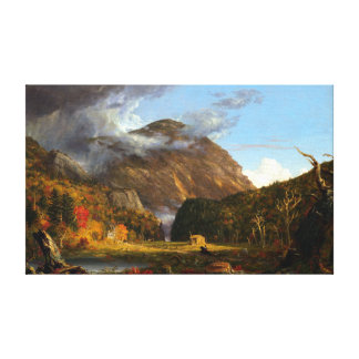 Thomas Cole A View of the Mountain Pass Canvas Print