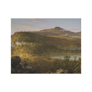 Thomas Cole - A View of the Two Lakes and Mountain Canvas Print