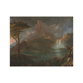 Thomas Cole - A Wild Scene Canvas Print