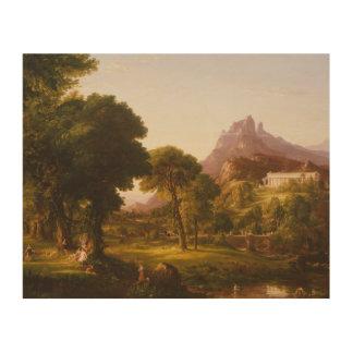 Thomas Cole - Dream of Arcadia Wood Prints