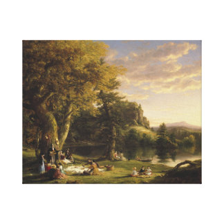 Thomas Cole - The Pic-Nic Canvas Print