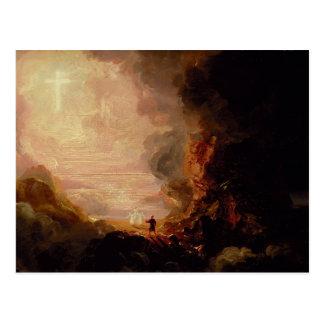 Thomas Cole- The Pilgrim of the Cross Postcard