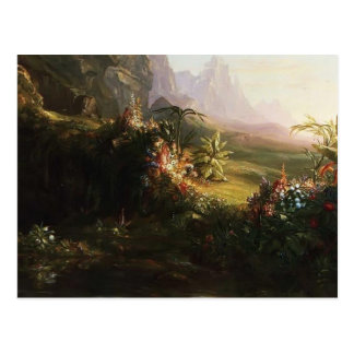 Thomas Cole-The Voyage of Life: Childhood (detail) Postcard