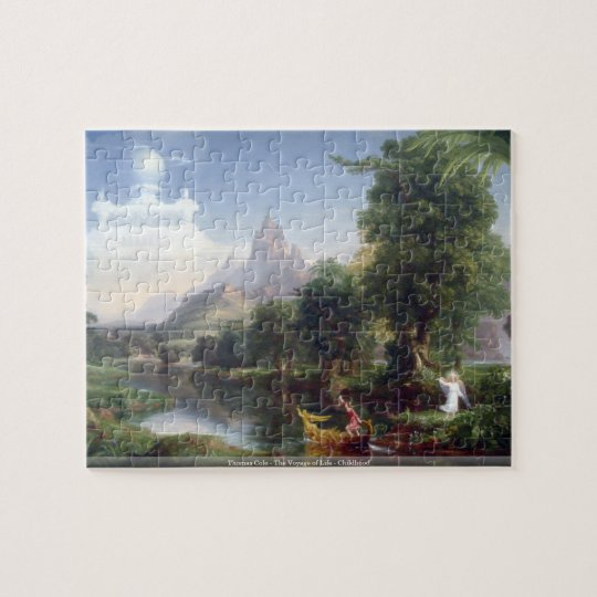 Thomas Cole - The Voyage of Life - Childhood puzzl Jigsaw Puzzle