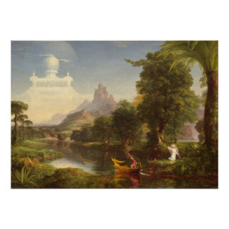 Thomas Cole The Voyage Of Life Youth Vintage Art Poster