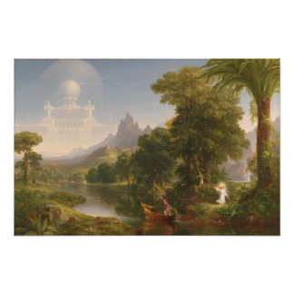 Thomas Cole Voyage of life Youth 1840 Poster