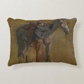 Thomas Eakins - Cowboy: Study for Cowboys Decorative Pillow