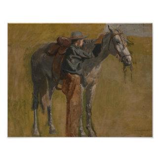 Thomas Eakins - Cowboy: Study for Cowboys Photographic Print
