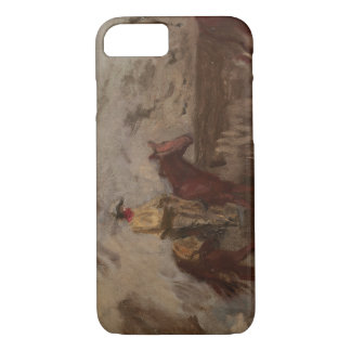 Thomas Eakins - Sketch of a Cowboy at Work iPhone 7 Case