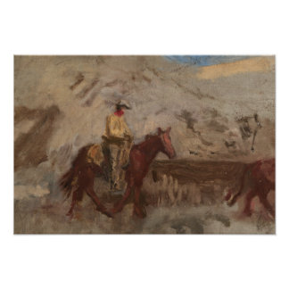 Thomas Eakins - Sketch of a Cowboy at Work Photograph