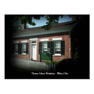 Thomas Edison Birth Place Milan,Ohio Postcard