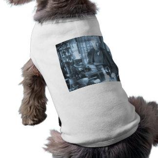 Thomas Edison in His Lab Stereoview Cyan Toned Pet Tee Shirt