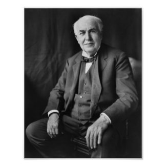 Thomas Edison - Inventor and Businessman Poster