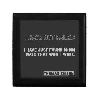 Thomas Edison Quote 10,000 Ways Typography Gift Box