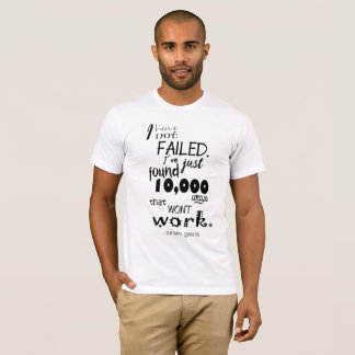 Thomas Edison Quote Men's Basic American Apparel T-Shirt