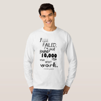 Thomas Edison Quote Men's Basic Long Sleeve T-Shirt
