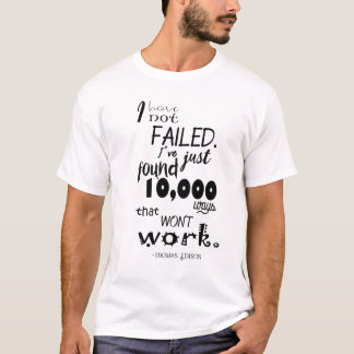 Thomas Edison Quote Men's Basic T-Shirt