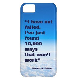 Thomas Edison quote success sky background iPhone 5C Cover
