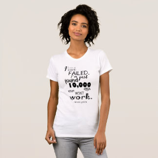 Thomas Edison Quote Women's Basic American Jersey T-Shirt