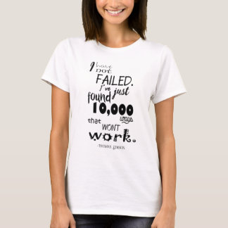 Thomas Edison Quote Women's Basic T-Shirt
