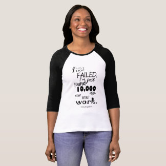 Thomas Edison Quote Women's Bella Canvas T-Shirt