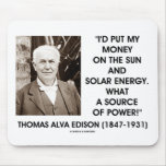 Thomas Edison Sun Solar Energy Source Of Power Mouse Pads
