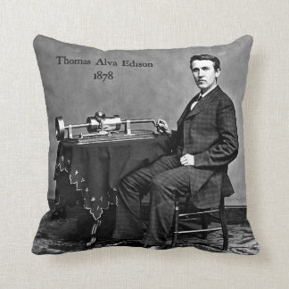 Thomas Edison Throw Pillow