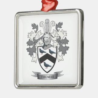 Thomas Family Crest Metal Ornament