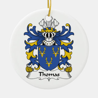 Thomas Family Crest Ornament