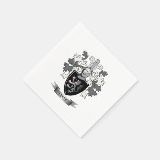 Thomas Family Crest Paper Napkins