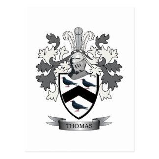 Thomas Family Crest Postcard