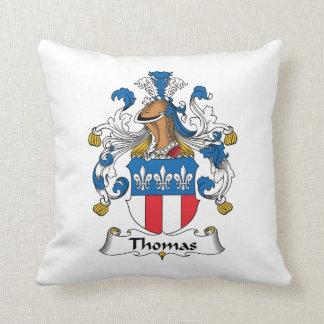 Thomas Family Crest Throw Pillows
