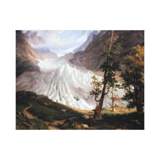 Thomas Fearnley The Grindelwaldgletscher Canvas Print