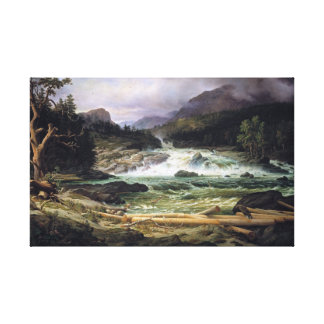 Thomas Fearnley The Labro Falls at Kongsberg Canvas Print