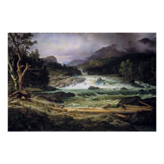Thomas Fearnley The Labro Falls at Kongsberg Poster