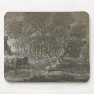 Thomas Gainsborough - A Moonlit Landscape Mouse Pad