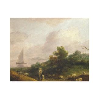 Thomas Gainsborough - Coastal Landscape Canvas Print
