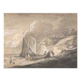 Thomas Gainsborough - Coastal Scene with Figures Photographic Print