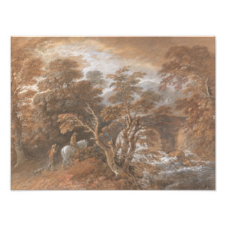 Thomas Gainsborough - Hilly Landscape with Figures Photo