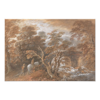 Thomas Gainsborough - Hilly Landscape with Figures Photographic Print