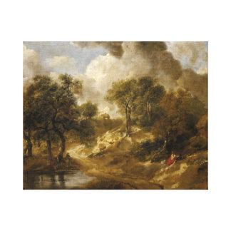 Thomas Gainsborough - Landscape in Suffolk Canvas Print