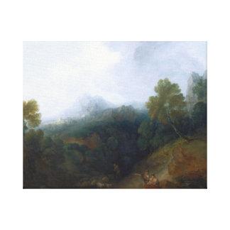 Thomas Gainsborough - Landscape with a Flock Canvas Print