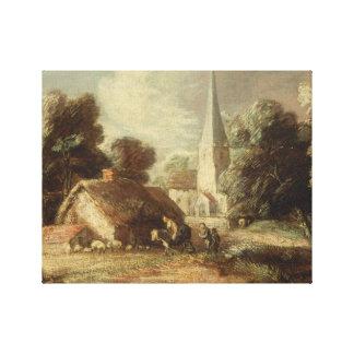 Thomas Gainsborough - Landscape with Cottage Canvas Print
